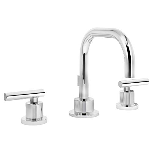 Symmons SLW-3512-1.0 Dia Widespread 2-Handle Bathroom Faucet with Drain Assembly in Polished Chrome (1.0 GPM)