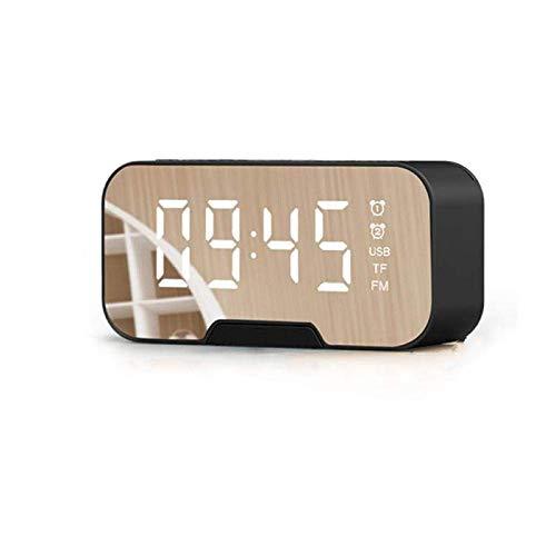 Altavoces estéreo Bluetooth portátil bajo estupendo Altavoz inalámbrico TF de la Ayuda Aux Espejo Reloj Despertador Telefonía Informática WTZ012