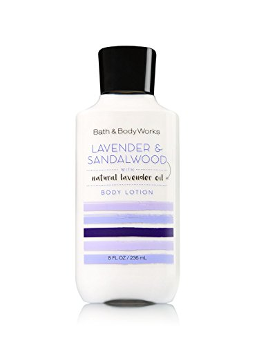 Bath and Body Works Lavender and Sandalwood Body Lotion 8 Ounce Full Size Moisturizing Lotion