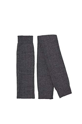 ESPRIT Damen Leg Warmers Rib - Schurwollmischung, 1 Paar, Grau (Asphalt Melange 3180), Größe: ONESIZE