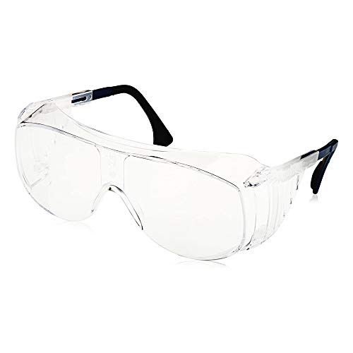 Uvex Ultra-Spec 2001 OTG (Over-the Glass) Visitor Specs Safety Glasses with Clear Uvextreme Anti-Fog Lens (S0112C)