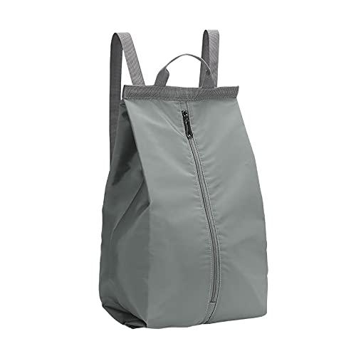 Bolsa de deporte para gimnasio, mochila de natación, impermeable, seca, separada, con cordón, ajustable, para el gimnasio, compras, deporte, yoga, escuela, playa, gris,