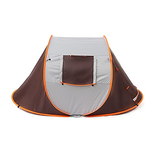 MSGF Tienda de campaña para 3 – 4 personas, de doble capa, impermeable, para acampar, senderismo, 4 estaciones al aire libre, grandes tiendas familiares 0917 (color oscuro)