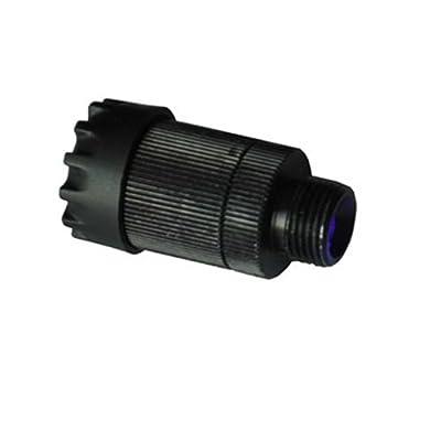 Basic Archery Supplies Fiber Optic LED Sight Light 3/8-32 Thread - Rheostat Light with 3 Settings, Black