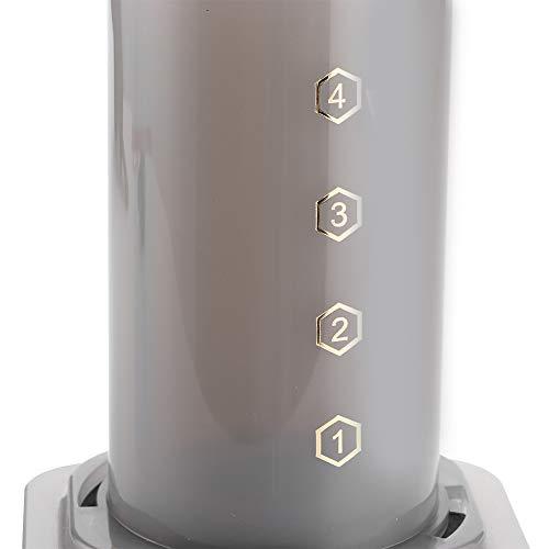 Ekspres do kawy, bezpieczny kompaktowy praktyczny wygodny dzbanek do kawy, lekki do podróży kempingowych wesela domowe w kuchni(black)