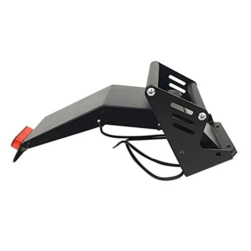 CAIFEIYU Fardo Trasero del guardabarro de Metal Ajuste para FLJ T113 Scooter eléctrico con la luz del Freno Trasero (Color : Mudguard with Light)