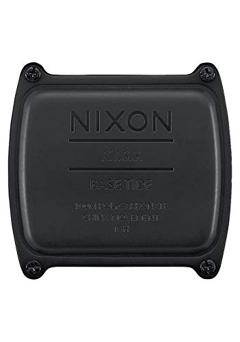 Nixon Base Tide All Black Men's Surf Watch with Silicone Band (38mm. Black Face/Black Silicone...