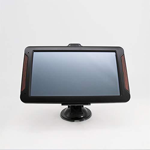 GPS para Coche Navegacion GPS Asistente a la Conducción tráfico y Alerta de radares mapas de la UE para autocaravanas con tráfico Digital y navegación por Voz (Color : Negro)