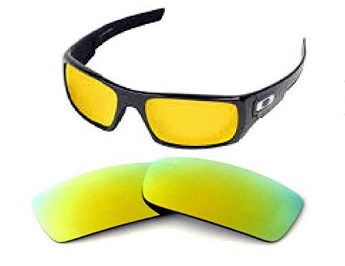 Lentes de repuesto Galaxy para gafas de sol Oakley Fives Squared polarizadas doradas 100% UVAB