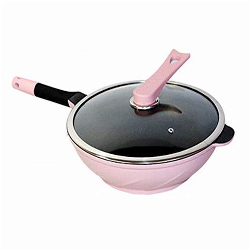DQM Maifan Stone Wok Non-stick Frying Pans, kan worden gebruikt om te roeren frituren, flip, grill, sudderen en gooien gerechten zoals biefstuk, ei, groente, pannenkoek, omelet, frittata. snel schoonmaken