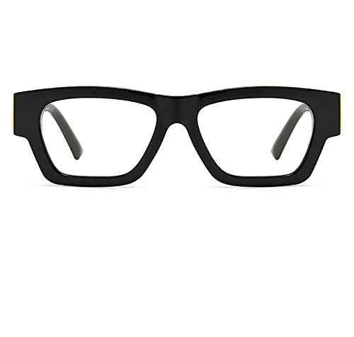 SONGYUAN Gafas De Sol Retro Modernas con Montura Grande C8 Negro Transparente