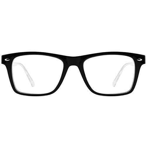 TIJN Blue Light Blocking Glasses for Men Women Square Nerd Computer Glasses