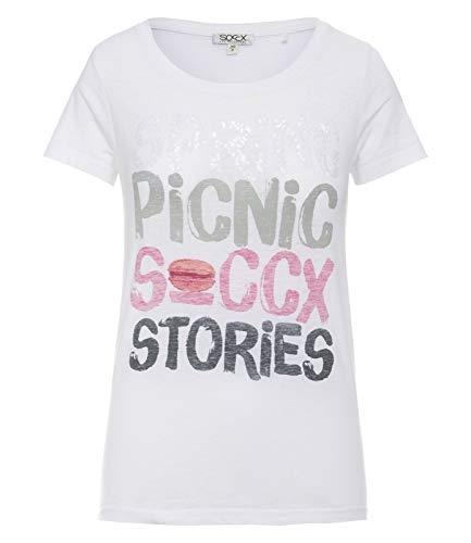 SOCCX Erwachsene T-Shirt mit Print und Ausbrenner-Effekten