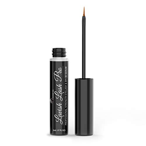 Lavish Lash Pro by Pronexa Hairgenics. Professional Strength Eyelash & Eyebrow Growth Serum. Over 20 Active Growth Promoting Ingredients for the Longest, Fullest Lashes & Brows. 5mL, 6 Month Supply.