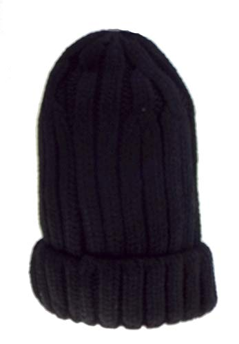 Générique 1 Bonnet uni doublé Fausse Fourrure Mixte Homme, Femme, Adolescent, Taille Unique. Noir