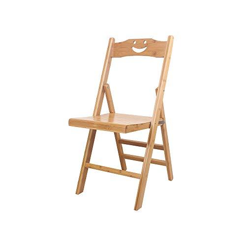 YQQ Chaise d'enfant Dossier Bambou Tabouret Pliant en Bois Massif De Plein Air Petit Banc Coiffeuse Tabouret Portable Chaise De Pêche (Taille : High57.5cm)