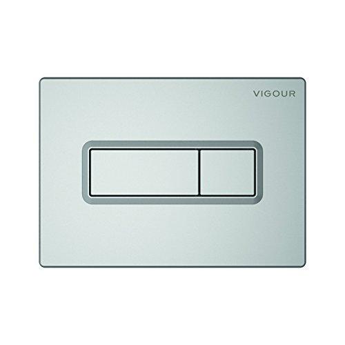 Vigour VIS Betätigungsplatte TEES Drückerplatte für WC Vorwandelement Conel (seidenmatt)