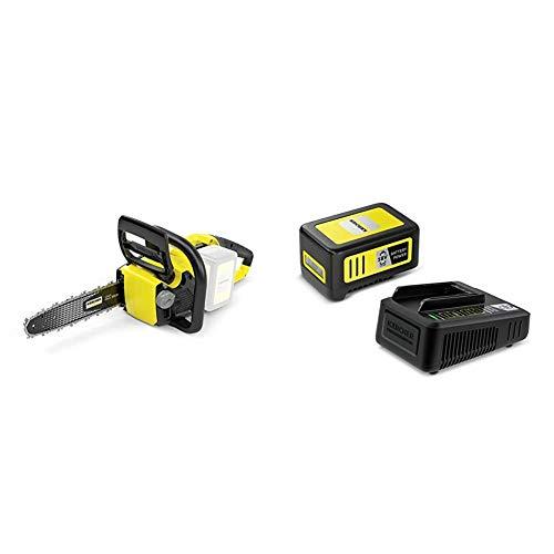 Kärcher 1.444-001.0 Tronçonneuse CNS 18-30 (sans batterie amovible) + Set batterie Power 18V / 5 Ah et chargeur rapide