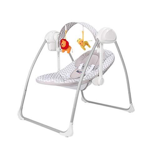Amazing Deal Electric Infant Bouncers Balance Toddler Rocker Foldable Newborn Shaker Sleeping Basket...