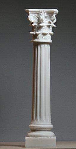 greekartshop - Columna griega corintia de la orden del pilar de arquitectura de decoración de alabastro escultura de 10,2 pulgadas