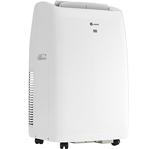 Vremi 14000 BTU Portable Air Conditioner for 400 to 450 Sq Ft Rooms - Powerful AC Unit with Cooling Fan, Wheels, Reusable Filter, Auto Shut Off and LED Display