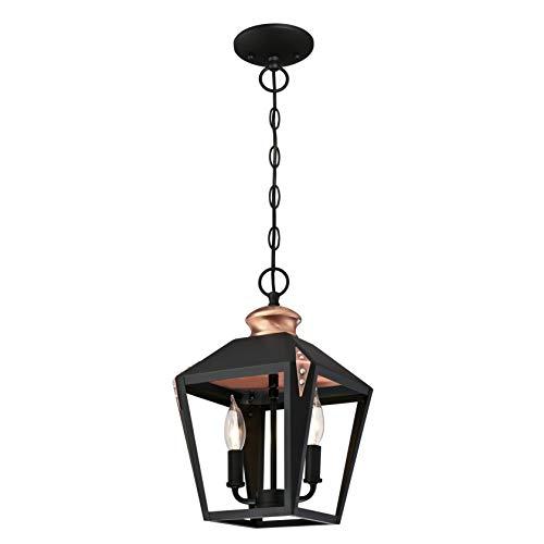 Westinghouse Lighting Two-Light Indoor Pendant Lámpara de Techo, Negro Mate