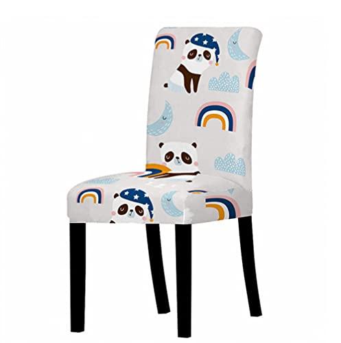 Copertura della sedia Spandex Elastico Sedia Slipcover Caso Stretch Sedia Copre Per Matrimonio Hotel Sala Da Pranzo Panda Arcobaleno Cartoon Pattern