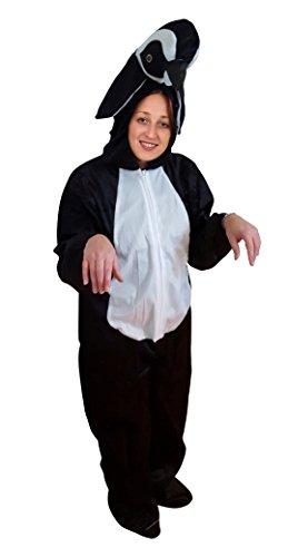 Pinguin-Kostüm, AN76 Gr. M-L, Fasnachts-Kostüme Tier-Kostüme, Pinguin-Kostüme Pinguine als Faschings- Karnevals Fasnachts-Geschenk für Erwachsene