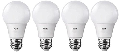 LED Light Bulb (88165A), Soft White 3000K, 9W (60W Equivalent) Dimmable A19 LED Lights,E26 Base, 830 Lumens, 4 - Pack. Power by ProHT