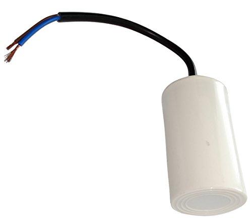 AERZETIX - C18641 - Betriebskondensator - für Motor - 16µF 450V - Ø42/70mm - mit Kabel - Kunststoffkörper - Zylindrischer - Weiß