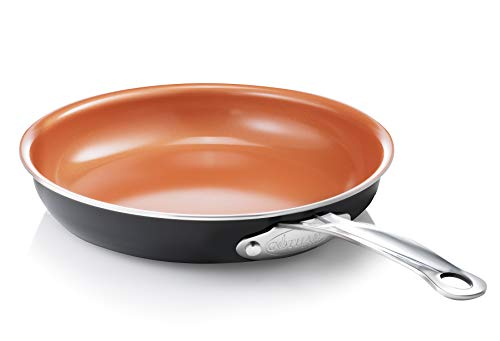 "Gotham Steel 11"" Non Stick Fry Pan Titanium and Ceramic Copper Coating, Dishwasher, Metal Utensil and Oven Safe"