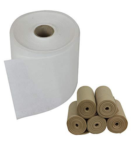 AMF Life - Folienunterlagen in weiß, 120 g/m², Biohelfer Premium Plus, Größe 17cm x 45m