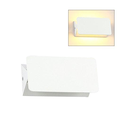 LEDMOMO 5W LED Wandleuchte Nachttisch Wandleuchte Wandleuchte Moderne Wandleuchte Wandlampe 200x80mm (Warmweiß)