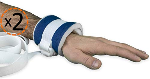 OrtoPrime PACK x2 Inmovilizadores Extremidades Antilesiones - Muñequeras Sujeción Médicas - Cinturón Sujeción Cama Hospital Hogar Geriátrico o Silla de Ruedas - Protección Anticaídas Universal
