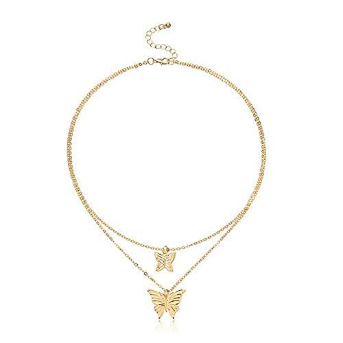 jieGorge Mariposa Tridimensional Aleación Colgante Collar Accesorios de Moda para Mujer, Decoración del Hogar, para el Día de Pascua (I)