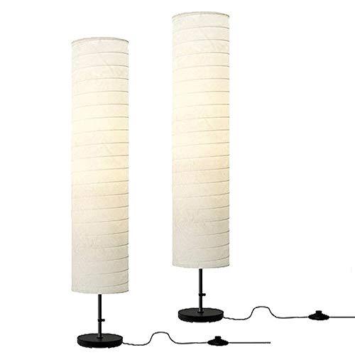 IKEA FBA Holmo Floor Lamp + Led Bulb (2 Pack), Set of 2 Light, White