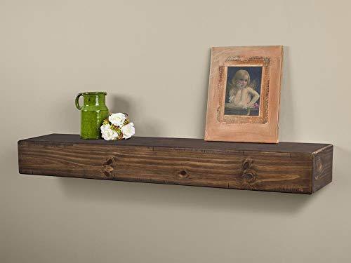 fireplace mantel mounting hardwares Dakota Rustic Pine Wood Fireplace Mantel Shelf (60-Inch, Mocha)
