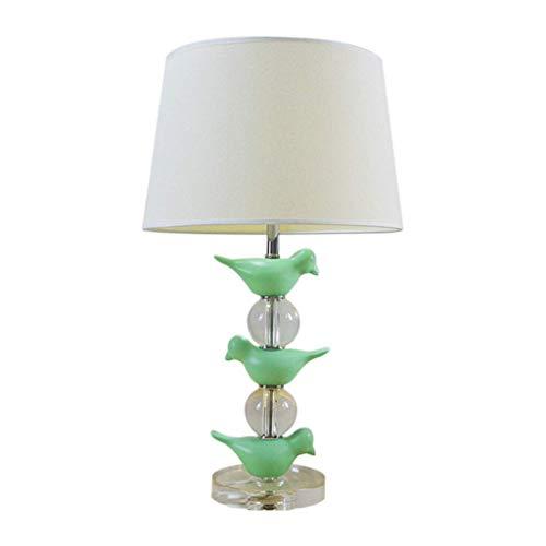 Metdek Lámparas de mesa de cristal para mesita de noche, dormitorio o salón
