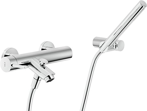 Nobili rubinetterie LV00110CR Live Miscelatore Monocomando per Gruppo Vasca con Duplex, Cromo