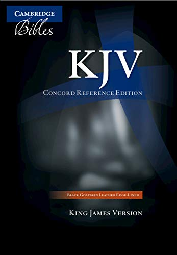 KJV Concord Reference Bible, Black Edge-lined Goatskin Leather, KJ566:XE