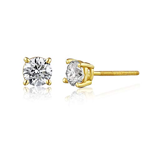 AGS Certified Real Diamond Studs