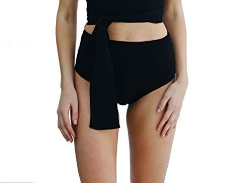 Lenny Niemeyer Black High Waist Tricot Bikini Bottom (Medium)