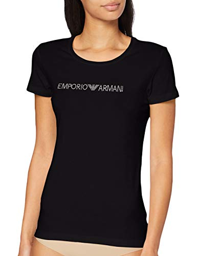 Emporio Armani T-Shirt Camiseta, Negro - Black, L para Mujer