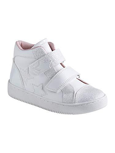 Vertbaudet High-Sneakers für Mädchen, Klett weiß 28