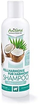 AniForte Shampooing pour chiens avec extrait de noix de coco et aloe vera 200ml - shampooing soin naturel pour cheveux longs et courts chez le chien