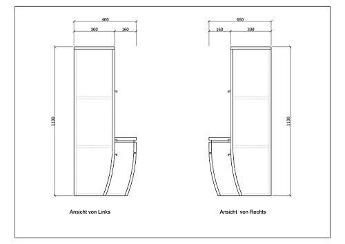 Badmöbel Set Komplett Schwarz Hochglanz Bild 6*