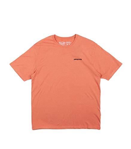 Patagonia M's P-6 Logo Organic T-Shirt pour Homme L Rose (Mellow Melon)