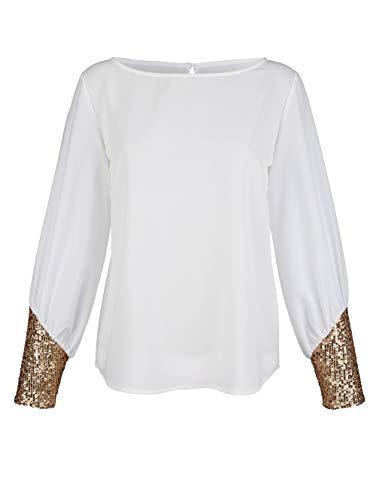 Alba Moda Bluse mit Pailletten Off-white