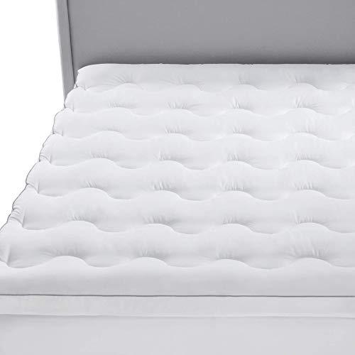 Bedsure Topper Colchón 150x190/200x5cm - Funda Colchón Cama 150 Acolchado, Protector Colchón Hipoalergénico Suave Transpirable de Microfibra ✅