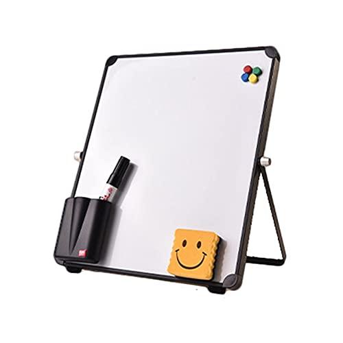 ETSK Pizarra magnética borrable de escritorio tablero de mensajes reutilizable soporte mini caballete con/sin clip para la escuela oficina